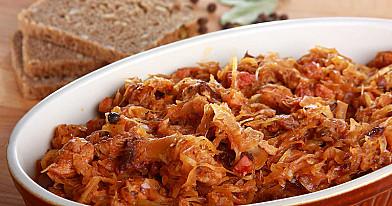 Lenkiškas bigosas - kopūstų troškinys su mėsa