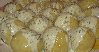 Вареные картофельные клецки