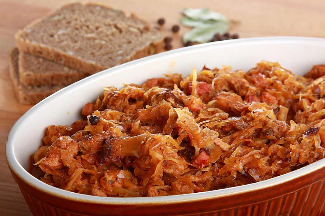 Польский бигос (Bigos staropolski) - тушеная капуста с мясом