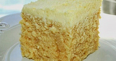 Vanilinis pyragas su sutirštintu pienu