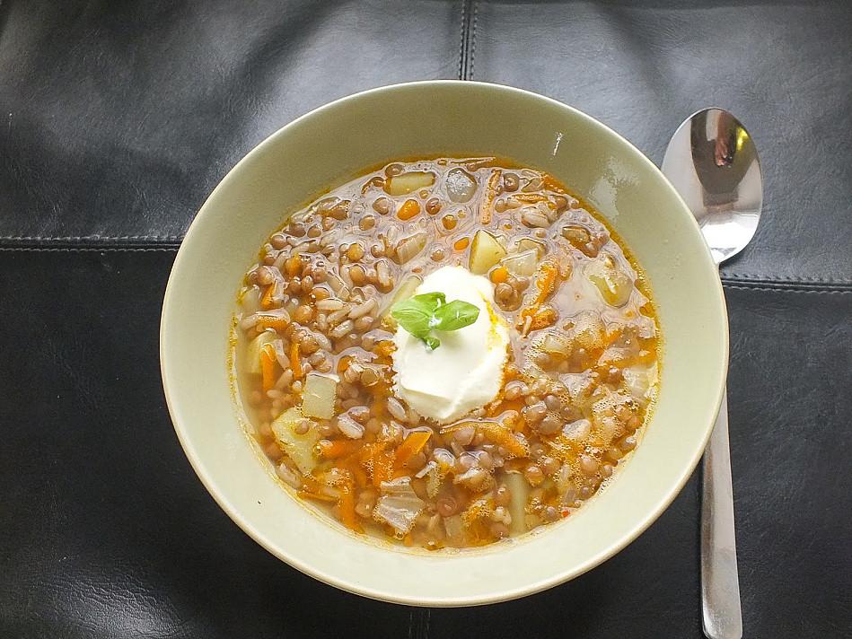 Turkiška lęšių ir ryžių sriuba