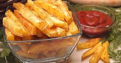 Картофель фри в духовке без масла