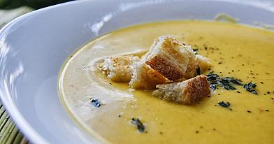 Вегетарианский тыквенный суп пюре со сливками