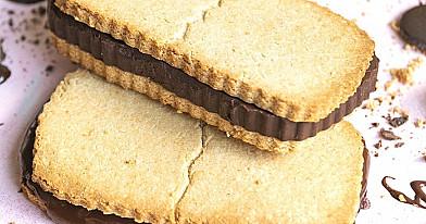 Keto juostelės - Low carb sausainiai su šokoladu be cukraus