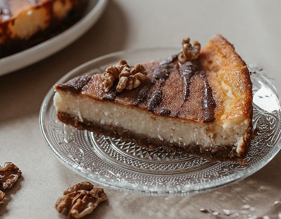 Keto sūrio pyragas - tortas be cukraus ir be miltų