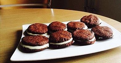 "Homemade ""Oreo"" cookies"