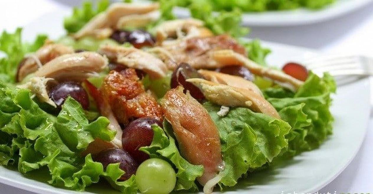 Vištienos salotos su vynuogėmis   Receptas